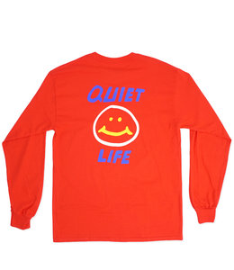 THE QUIET LIFE SMILEY LONG SLEEVE TEE