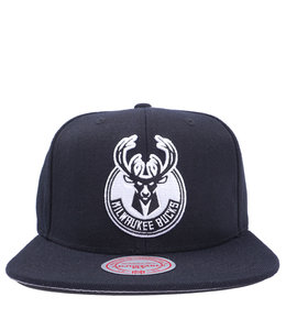 MITCHELL AND NESS BUCKS WOOL CURRENT SNAPBACK HAT