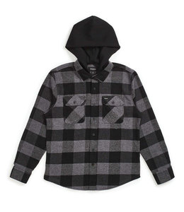 BRIXTON BOWERY HOODED FLANNEL SHIRT