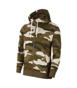 NIKE CLUB CAMO FULL-ZIP HOODED SWEATSHIRT