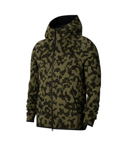 NIKE TECH FLEECE PRINTED FULL-ZIP HOODIE