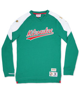 MITCHELL AND NESS BUCKS TEAM INSPIRED LONG SLEEVE TOP
