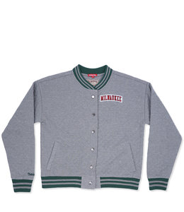 MITCHELL AND NESS BUCKS WOMENS QUILTED JACKET