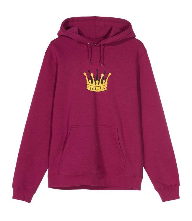 STUSSY Chenille Crown Pullover Hooded Sweatshirt