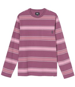STUSSY MARCO STRIPE LONG SLEEVE SHIRT