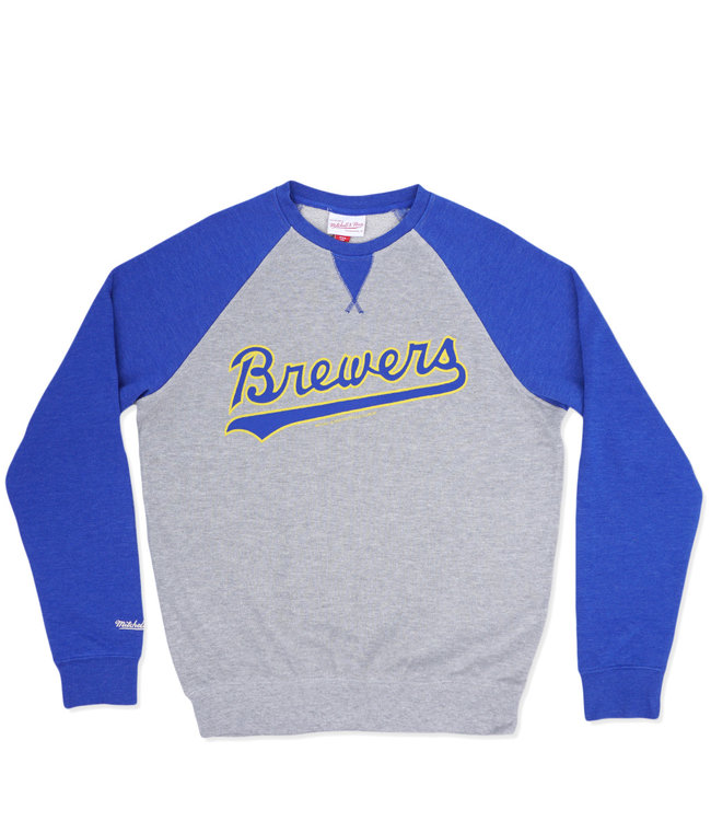 MITCHELL AND NESS Brewers Turf Fleece Crew Neck