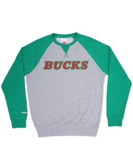 MITCHELL AND NESS BUCKS TURF FLEECE CREW NECK