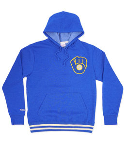 MITCHELL AND NESS BREWERS BAT AROUND PULLOVER HOODIE