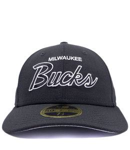 NEW ERA BUCKS SCRIPT LOW PROFILE 59FIFTY FITTED HAT