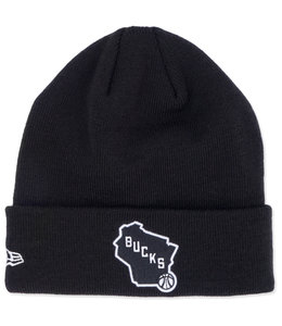 NEW ERA BUCKS STATE LOGO CUFFED KNIT BEANIE
