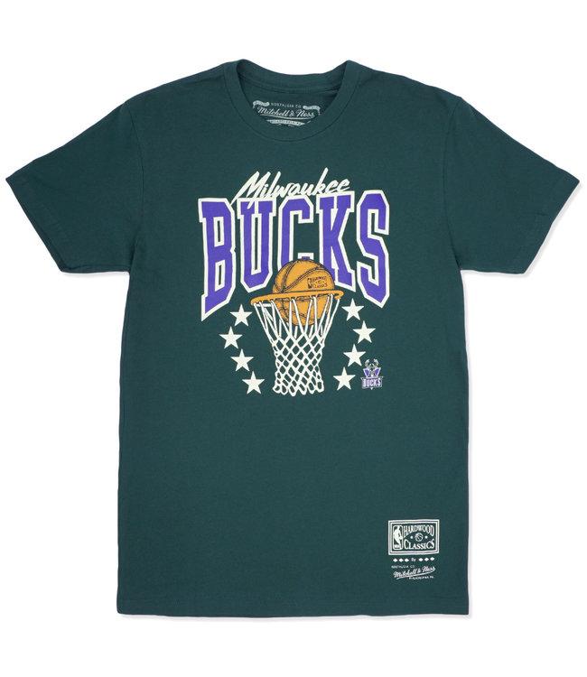 MITCHELL AND NESS Bucks Basket Stars Tee