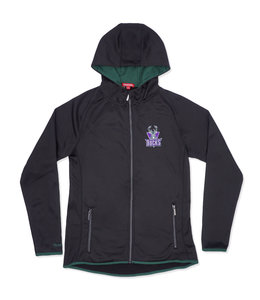 MITCHELL AND NESS BUCKS WOMENS FITTED HOODED JACKET
