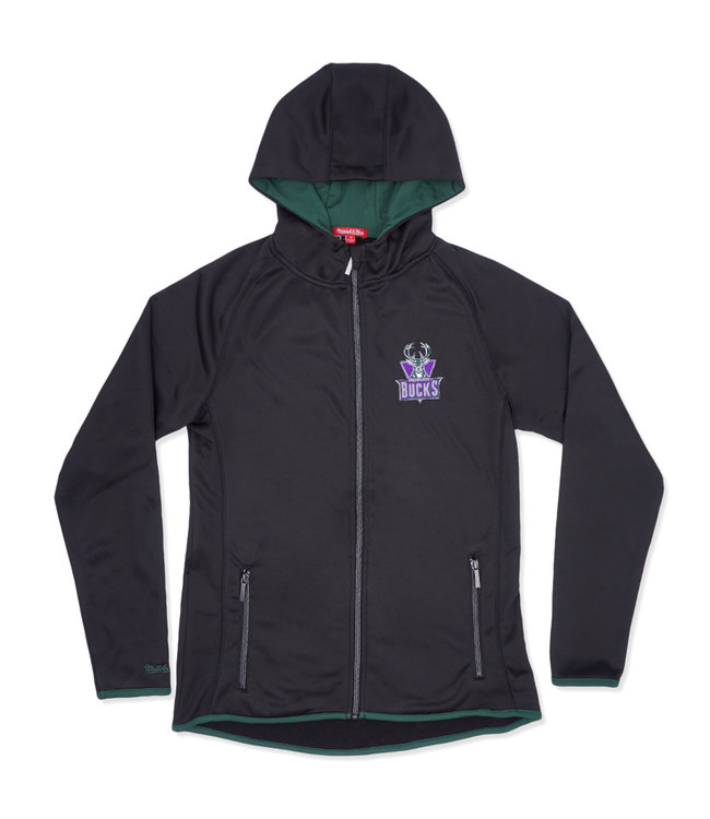 MITCHELL AND NESS Bucks Women's Fitted Hooded Jacket
