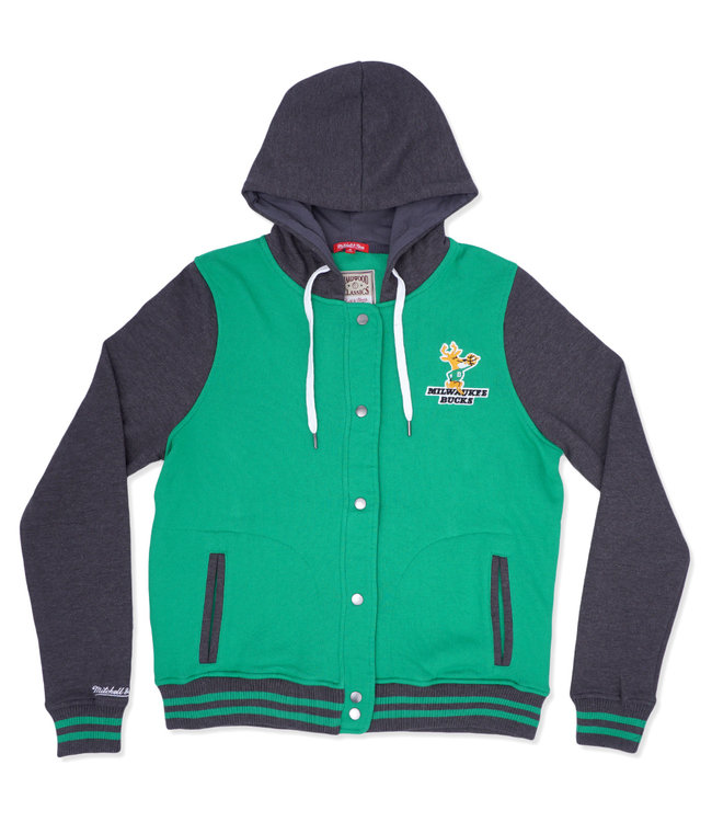 MITCHELL AND NESS Bucks Women's Hooded Varsity Fleece Jacket