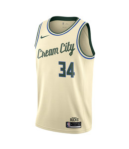 NIKE BUCKS GIANNIS CREAM CITY SWINGMAN JERSEY