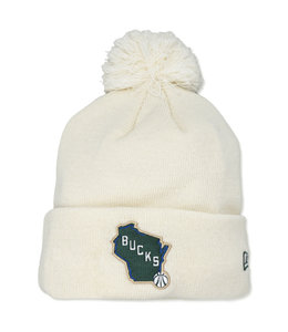 NEW ERA BUCKS CREAM CITY STATE KNIT BEANIE