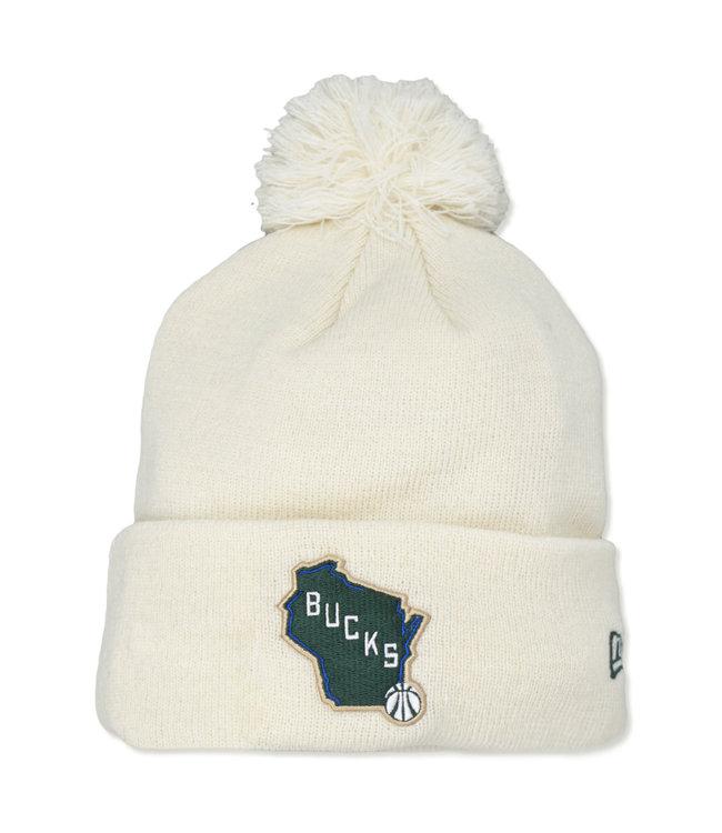 NEW ERA Bucks Cream City State Knit Beanie