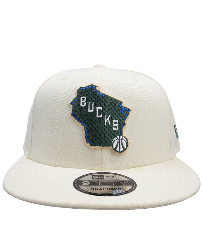 NEW ERA Bucks Cream City State 9Fifty Snapback Hat