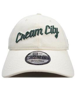 NEW ERA BUCKS CREAM CITY 9TWENTY ADJUSTABLE HAT