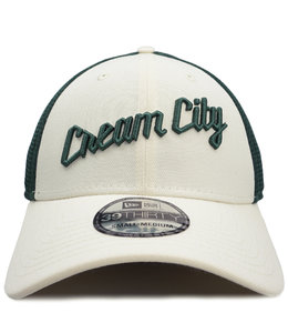 NEW ERA BUCKS CREAM CITY 39THIRTY STRETCH FIT HAT