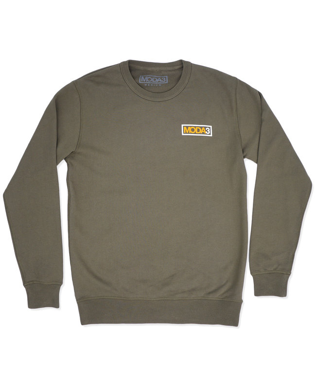 MODA3 Box Logo Outline Crew Sweatshirt