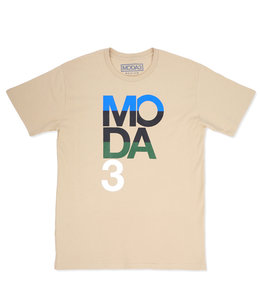 MODA3 STACKED LOGO TEE