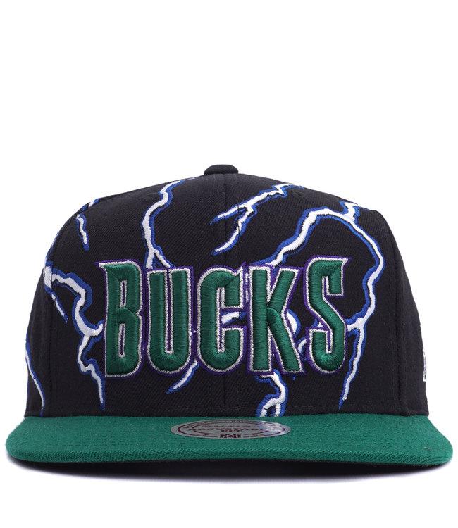 MITCHELL AND NESS Bucks Lightning Snapback Hat