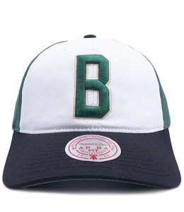 MITCHELL AND NESS BUCKS 3 BLOCK STRAPBACK HAT