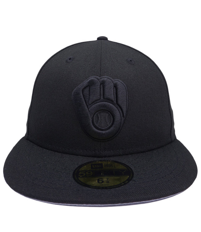 NEW ERA Brewers Basic Blackout 59Fifty Fitted Hat