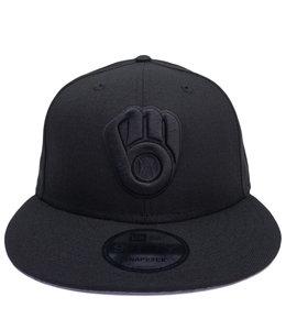 NEW ERA BREWERS BLACKOUT BASIC 9FIFTY SNAPBACK HAT