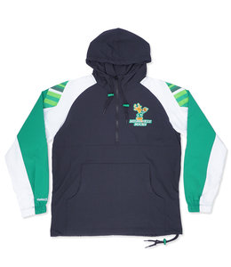 MITCHELL AND NESS BUCKS HALF-ZIP ANORAK JACKET