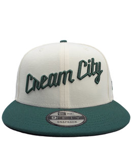 NEW ERA BUCKS CREAM CITY 9FIFTY SNAPBACK HAT