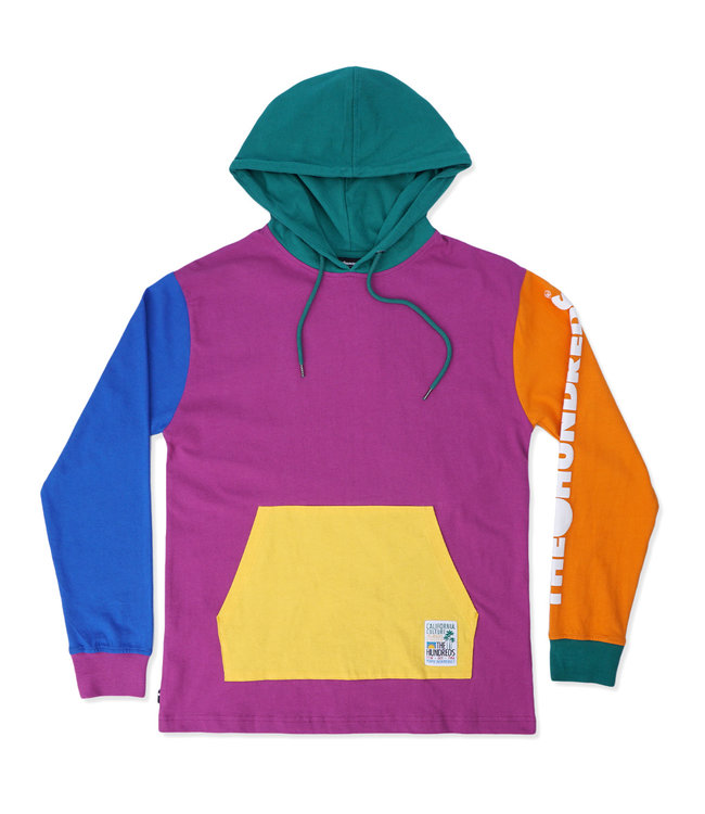 THE HUNDREDS Crane Hooded Long Sleeve Shirt
