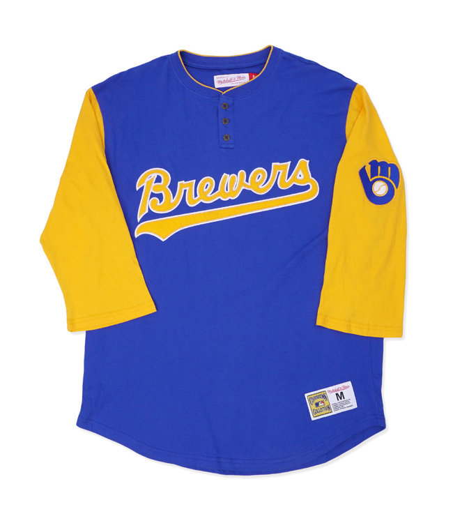 MITCHELL AND NESS Brewers Franchise Player Henley