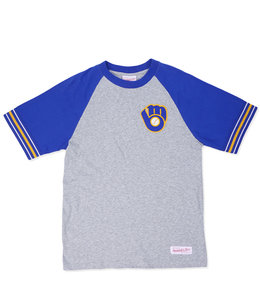MITCHELL AND NESS BREWERS TEAM CAPTAIN TEE