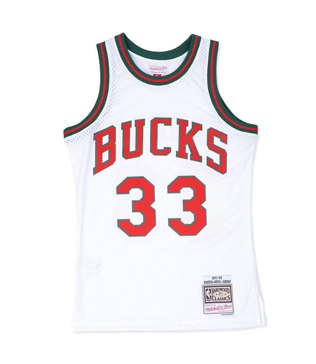MITCHELL AND NESS Bucks 1971-72 Kareem Swingman Jersey