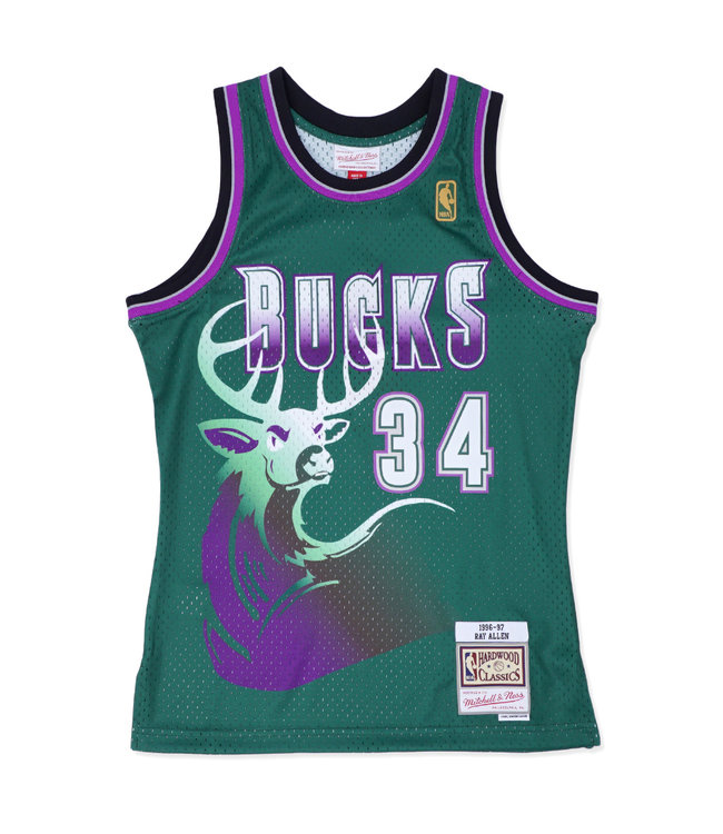 MITCHELL AND NESS Bucks Ray Allen 1996-97 Swingman Jersey