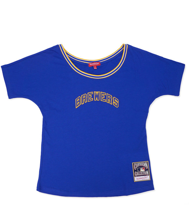 MITCHELL AND NESS Brewers Women's Slouchy Tee