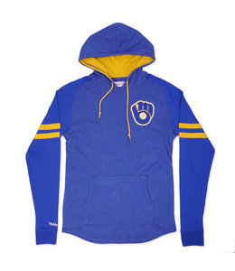 MITCHELL AND NESS BREWERS LIGHTWEIGHT 2.0 HOODIE