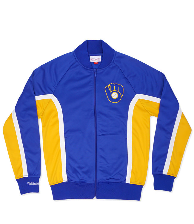 MITCHELL AND NESS Brewers Championship Game Track Jacket