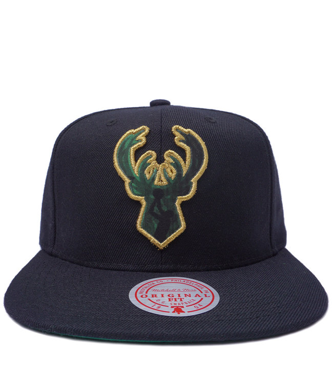 MITCHELL AND NESS Bucks Look Out Snapback Hat