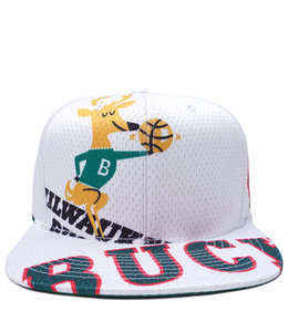 MITCHELL AND NESS BUCKS TEAR UP SNAPBACK HAT
