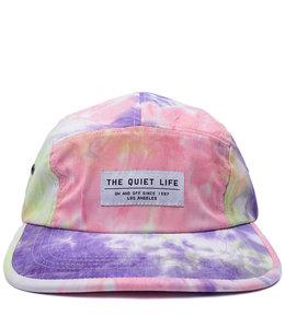 THE QUIET LIFE NEON TIE DYE 5 PANEL CAMPER HAT
