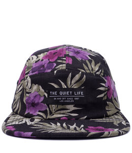 THE QUIET LIFE HAWAIIAN FLORAL 5 PANEL CAMP HAT