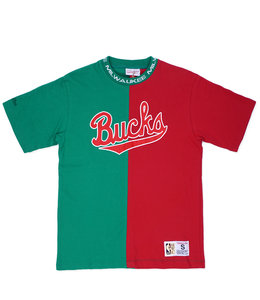 MITCHELL AND NESS BUCKS SPLIT COLOR TOP
