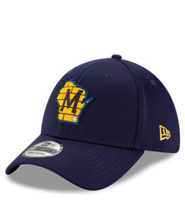 NEW ERA BREWERS STATE LOGO 39THIRTY STRETCH FIT HAT