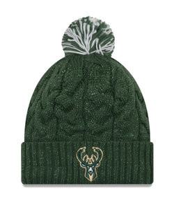 NEW ERA BUCKS WOMENS COZY CABLE KNIT BEANIE