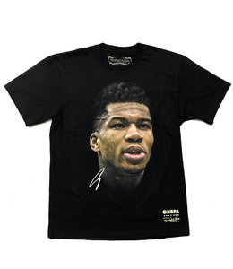 MITCHELL AND NESS BUCKS GIANNIS REAL BIG FACE TEE