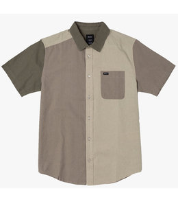 RVCA BLOCKED CRUSHED BUTTON-UP SHIRT