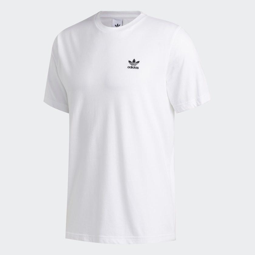 adidas trefoil white t shirt